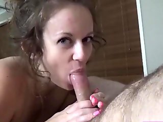 #22 Melody Radford (Blowjob before bed in Stockings, International famous amature porn star, sucking cock, flexing arss and eating dick, famous passionate pornstar)