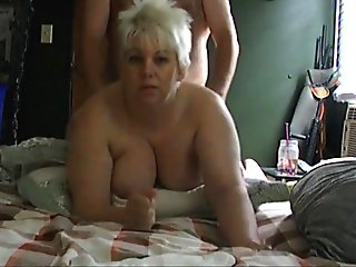 BIG ASS BLONDE WIFE POUNDED DOGGYSTYLE!